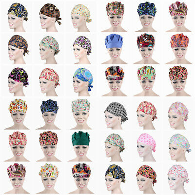 Men Women Doctor Nurses Printing Scrub Cap Medical Surgical Surgery Hat Hot Sale