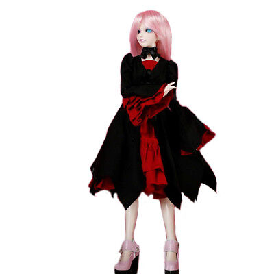 [PF] 125# Red And Black Dress Set For 1/4 MSD DZ AOD BJD Dollfie