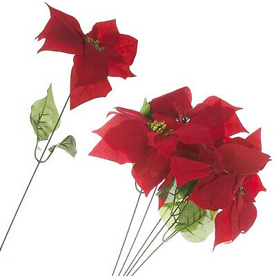 Christmas Roses Artificial Flowers x 100 For Use In Christmas Wreaths 62-07111