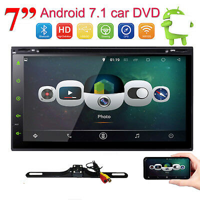 """2018 Quad Core 7"""" Touch Screen Android 7.1 Car Radio Stereo DVD Player GPS Navi"""