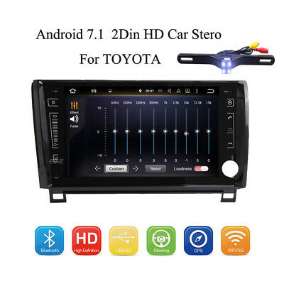 Andorid 7.1 Car Stereo GPS WIFI HD Map Audio Touchscreen For TOYOTA +Rear Camera