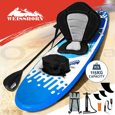 WEISSHORN Stand Up Paddle Board 11' Inflatable SUP Paddleboard Surfboards Kayak