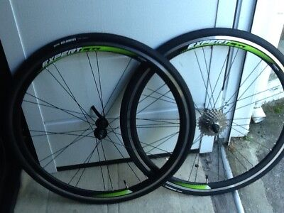 merida road cycle wheels complete with tyres,tubes,cassette