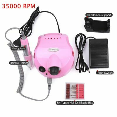 35000RPM Professional Electric Nail Drill File Bit Machine Pedicure Manicure Kit