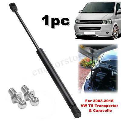 Front Bonnet Lifter Gas Strut + 2 Ball For VW T5 Transporter & Caravelle 03-15
