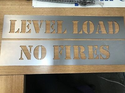Skip Signs - Stencils - Eg: Level Loads / No Fires/ Company Numbers Etc
