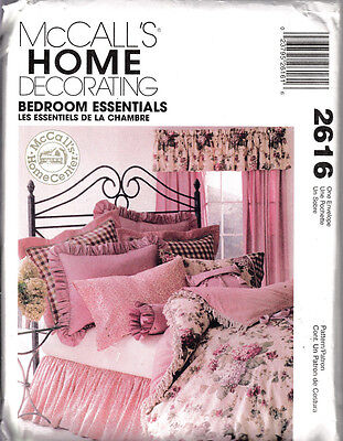 Mccall's Home Decorating Sewing Pattern #2616 Bedroom Essentials