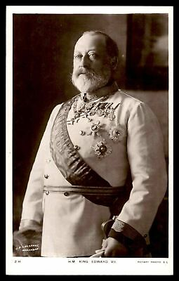 Hm King Edward Vii By Rotary Photo Rppc Postcard
