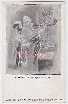 Judaica U. K. London Society Promoting Christianity Among Jews Blowing Horn J832