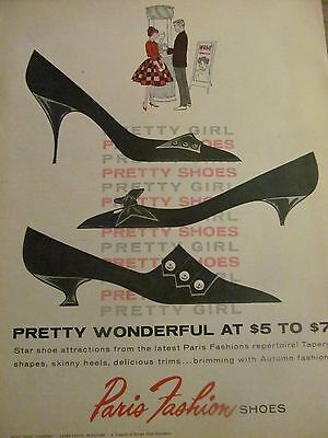 Paris Fashion Shoes, Full Page Vintage Print Ad