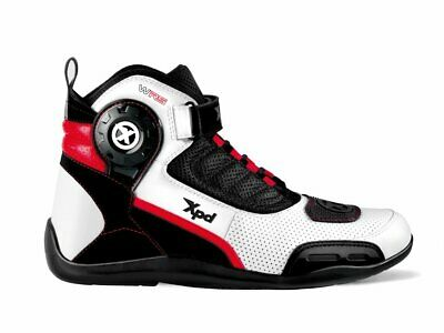 XPD X-Ultra WRS Wind White Motorcycle Boots - Free Shipping