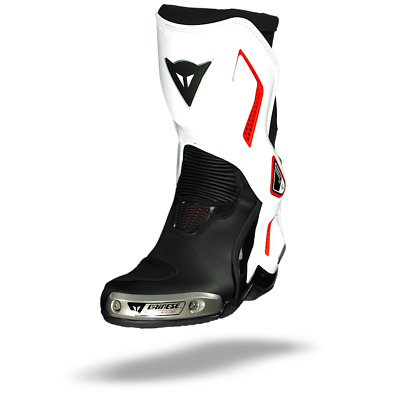 Dainese Torque D1 Out Black White Lava Red Motorcycle Boots - New! Free P&P!