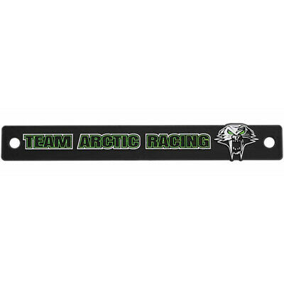 Arctic Cat Plastic Team Arctic License Plate Badge Accessory - Black - 5253-223