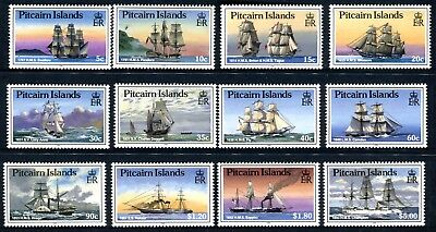 1988 Pitcairn Islands Ship Definitives - MUH Set of 12 Stamps