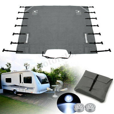 Grey Caravan Front Towing Cover Chip Protection Universal Size w/ Free LED Light