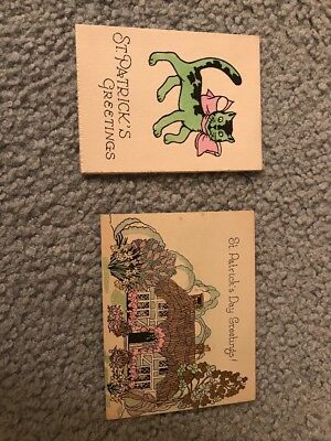 Vintage St. Patrick's Day Cards Lot Of 2 Greeting Cards - Rust Craft & Bromfield