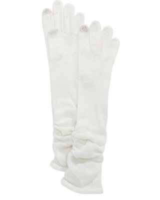INC International Concepts Ruched Long Gloves, Ivory (A6-02)