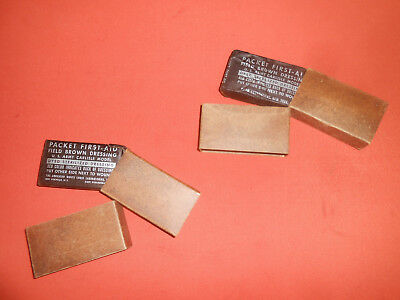 U.S.ARMY : WW2 War X 2 Dressing Bandages For US First Aid Medic Bag Pouch -