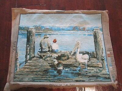 Needlepoint Tapestry Catch of the Day by Gordon Hanley
