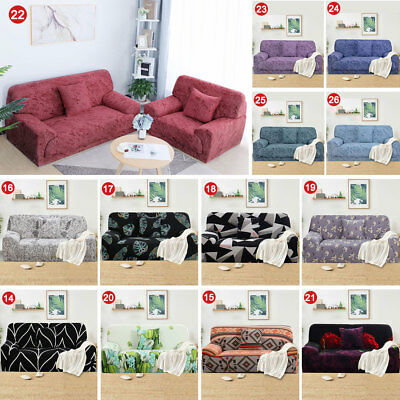Stretch Chair Sofa Covers 1 2 3 4 Seater Anti-Skid Lounge Slipcover Couch Cover
