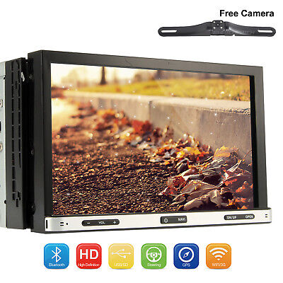 Car DVD WIFI GPS Navigation System in dash player Android 7.1 Double Din 7inch