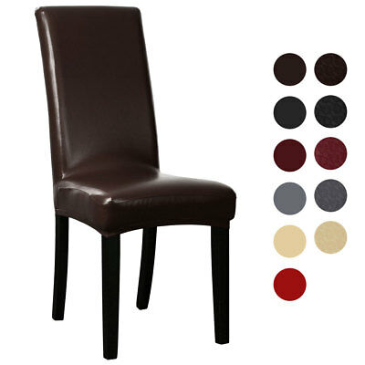 Artificial PU Fabric Leather Shorty Dining Chair Covers for Home Decorative