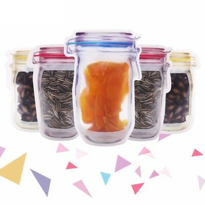Plastic Pattern Bottle Zipper Bag Cookies Grain Zip Lock Storage Package