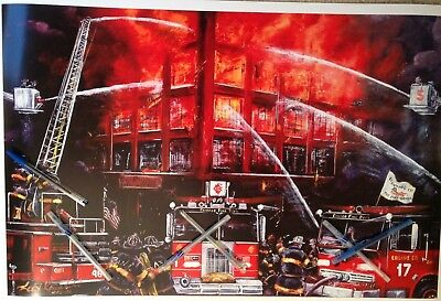 "Chicago Fire Department,BACKDRAFT MOVIE THEME,large print 20"" x  30"", colorful"