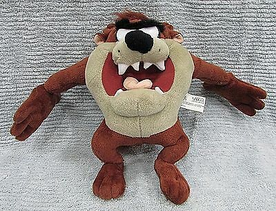 "Vintage 2001 Looney Tunes Taz Tasmanian Devil Stuffed Plush 12"" Toy FREE S/H"