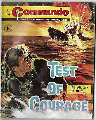 """Dated 1968. Vintage COMMANDO War Picture Comic # 357. """"Test of Courage"""""""
