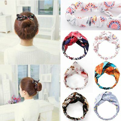 Fashion Boho Women Hair band Stretch Headwear Non Slip Twist Knot Headband Gift