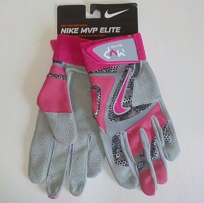 Nike MVP ELITE Baseball Batting Gloves BCA PINK POW GB0401 019 Adult Size LARGE