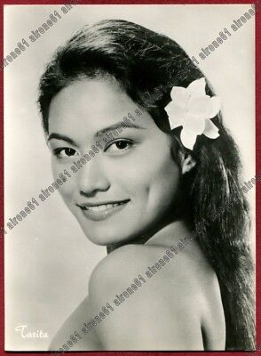TARITA TERIIPIA 02 ATTRICE ACTRESS ACTRICE CINEMA MOVIE Cartolina REAL PHOTO