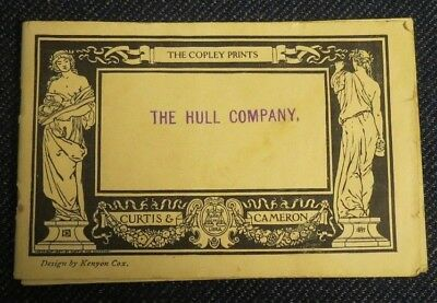 1908 Booklet The Hull Company The Copley Prints Curtis & Cameron Boston, MA