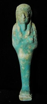 Zurqieh -As7936- Ancient Egypt. Large  Faience Ushabti. 600 - 300 B.c