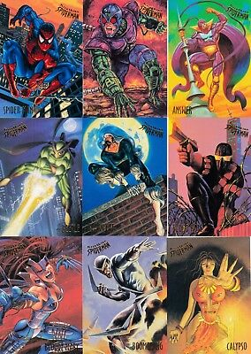 Spider-Man 1995 Fleer Ultra Partial Base Card Set 142/150 Marvel