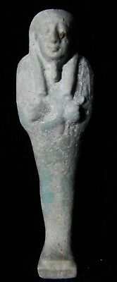 Zurqieh -As7940- Ancient Egypt. Beautiful Faience Ushabti. 600 - 300 B.c