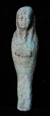 Zurqieh -As7943- Ancient Egypt. Beautiful Faience Ushabti. 600 - 300 B.c
