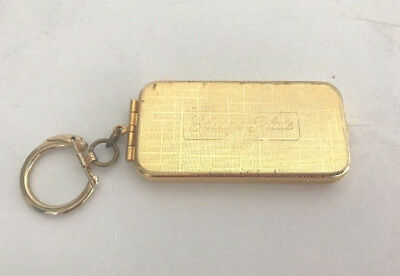Vintage Charge Plate card metal case key chain BRASS