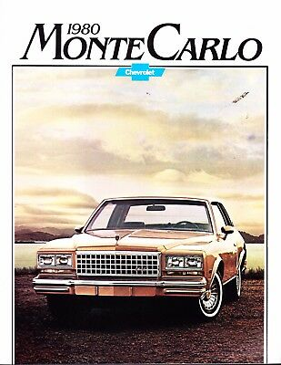 1980  Chevrolet Monte Carlo Factory  Original  Sales Brochure   16 Pages