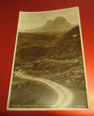 Vintage Suilven The Sentinel Of Lochinver J B White Real Photograph Postcard