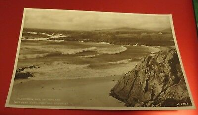Vintage Clachtoll Bay Sutherland Lochinver Scourie J B White Real Photo Postcard