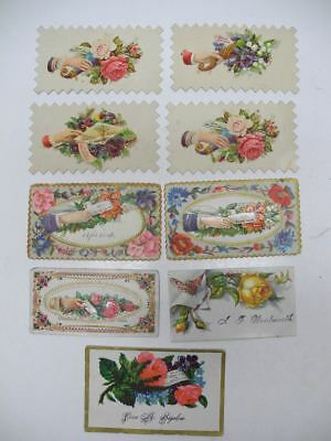 Set of 9 Antique Victorian Gift Cards