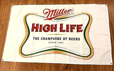 Decorative Collectibles Flags Miller High Life Beer Flag 3x5ft Banner