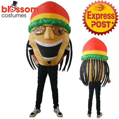 K354 Jamaican Rasta Inflatable Funny Suit Costume Bobsleigh Bobsled Team Sports