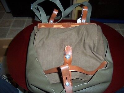 Vintage Military Pack Rohrbach BE 38 Leather & Canvas Nice LOOK!