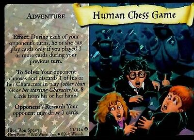 Harry Potter Trading Card Game HUMAN CHESS GAME 11/116 Adult Owned Near Mint