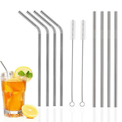 Useful Eco Friendly Stainless Steel Metal Drinking Straw Reusable Straws