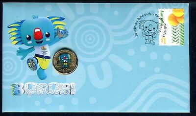 2018 XXI Commonwealth Games Gold Coast Mascot BOROBI FDC/PNC With RAM $1 Coin