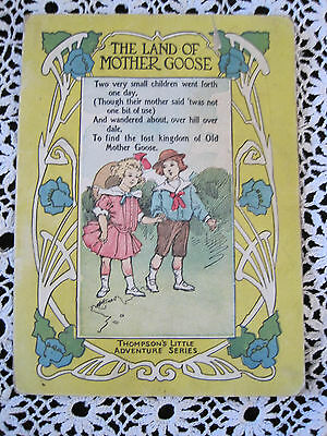 The Land of Mother Goose 1917 Book Vintage